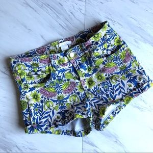 H&M | Neon Highlighter Floral Shorts 2